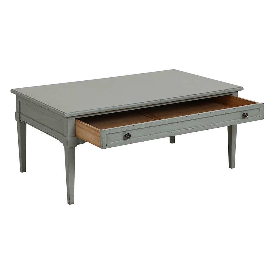 Table basse rectangulaire vert sauge