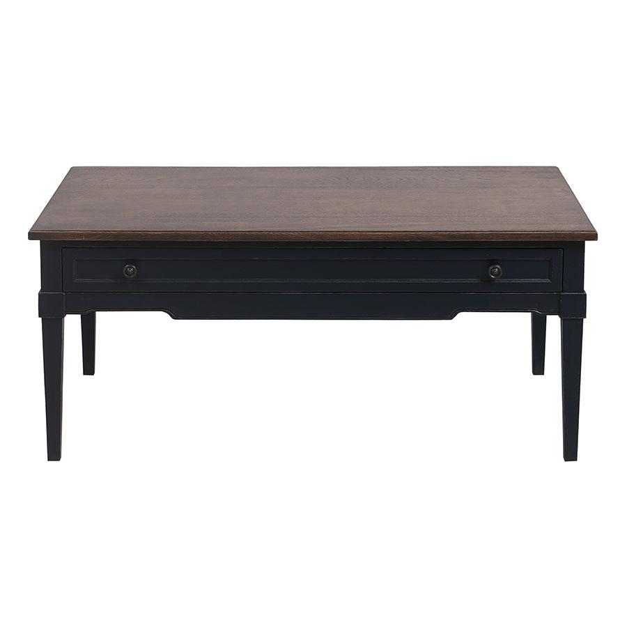Table basse rectangulaire bleu indigo