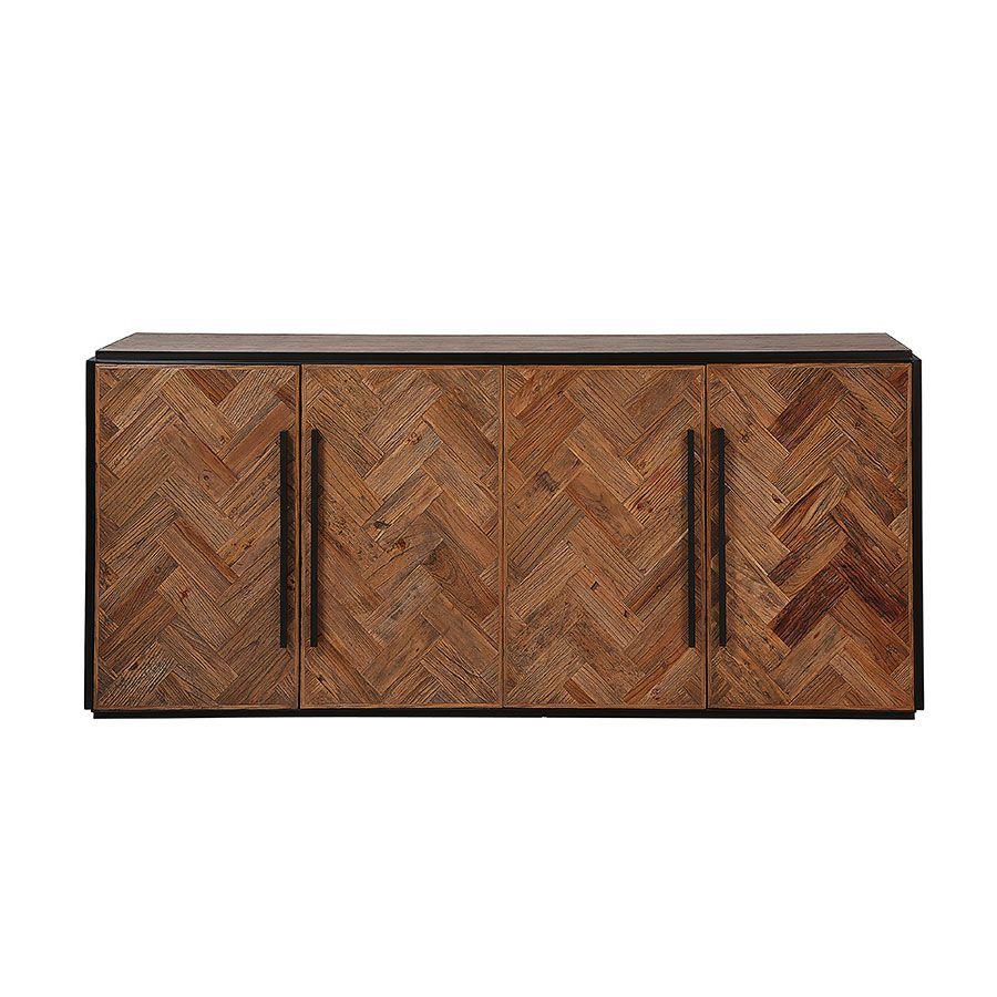 Bas de buffet industriel en bois et acier - Haussmann