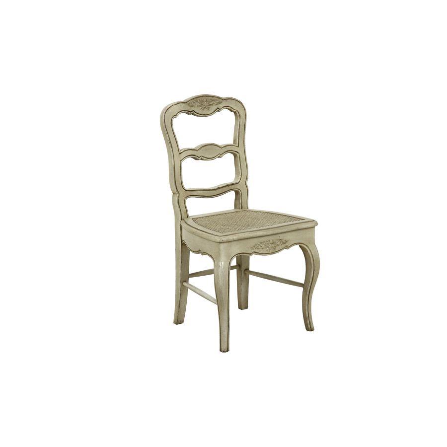Chaise cannée en pin massif - Château