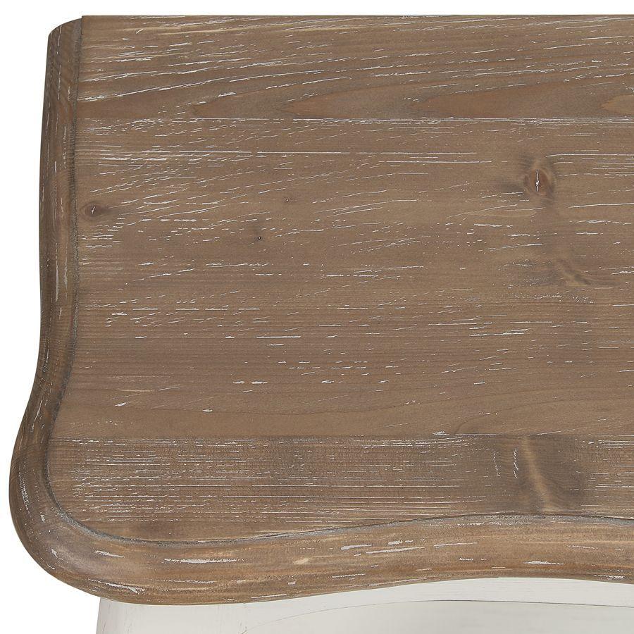 Console en pin massif blanc vieilli - Château