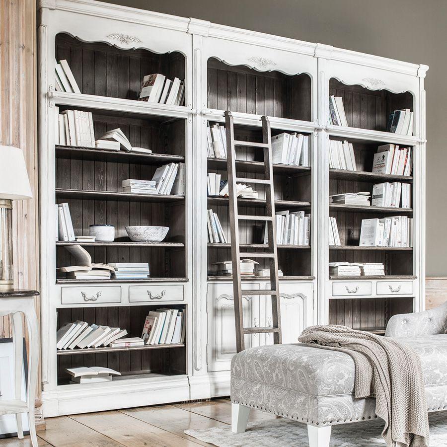 Échelle de bibliothèque en frêne massif - Château