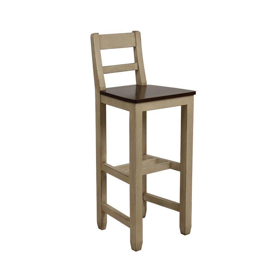 Chaise haute en pin massif - Brocante