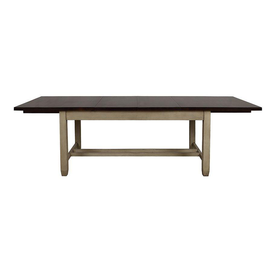 Table extensible en pin 8 à 10 personnes - Brocante