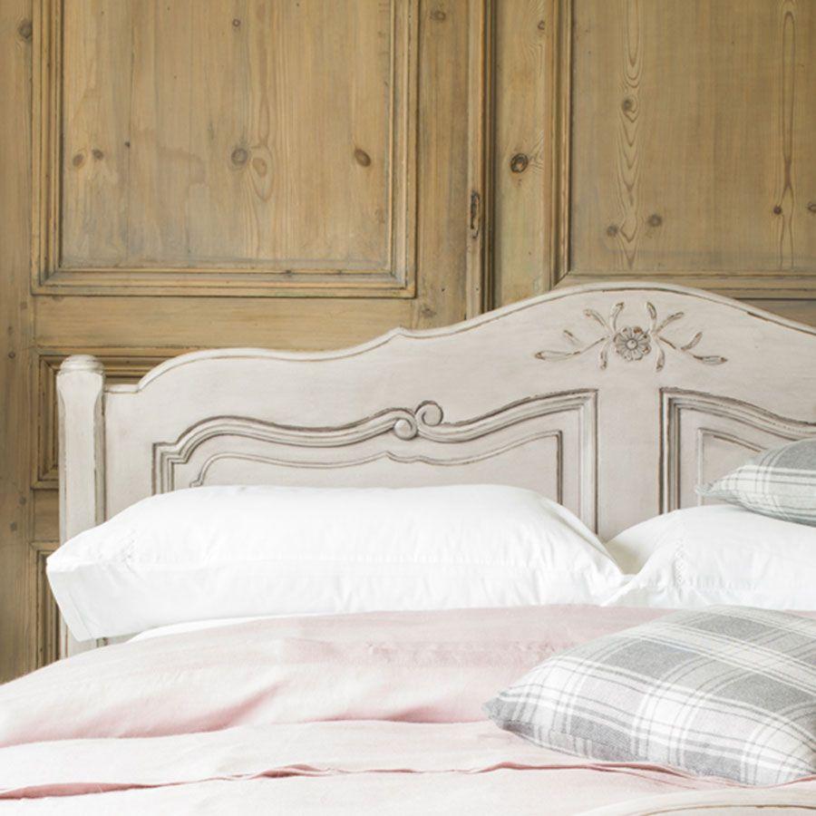Tête de lit 180 en pin massif gris argenté - Château