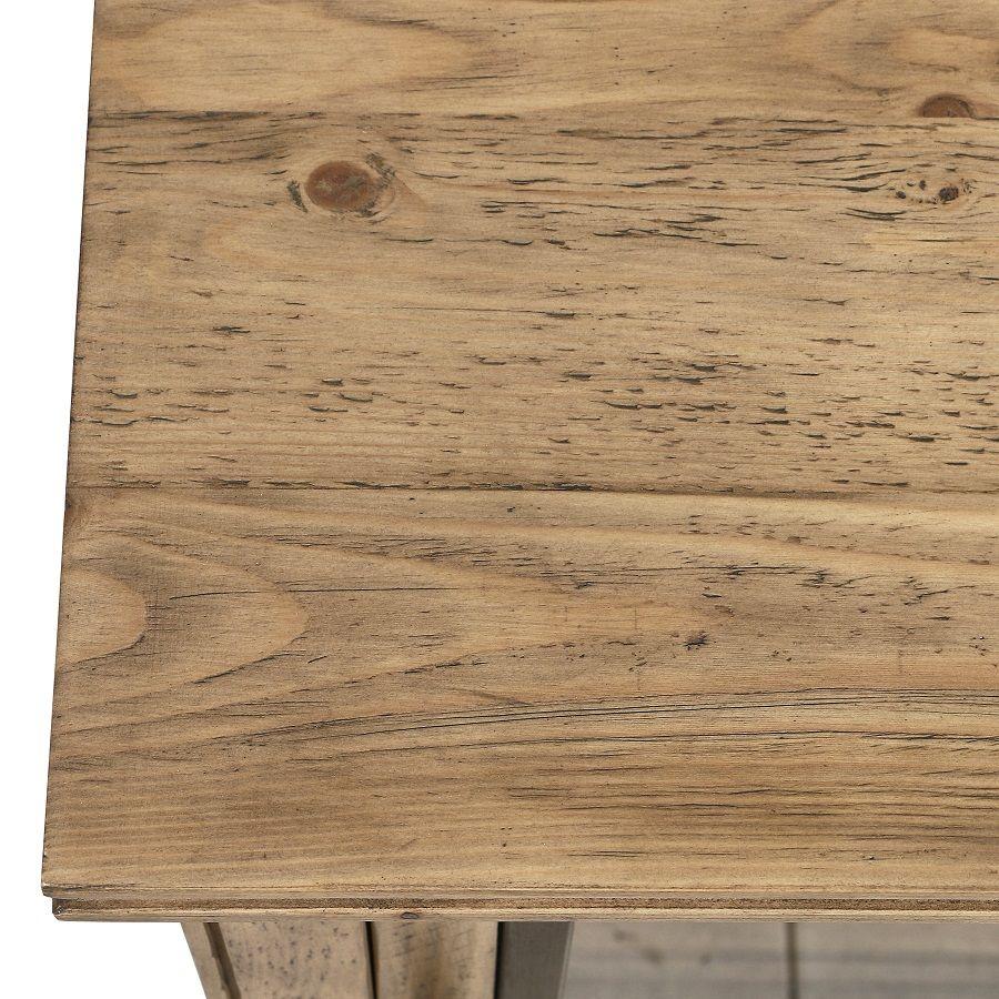 Console 2 portes vitrées en bois massif - Initiale