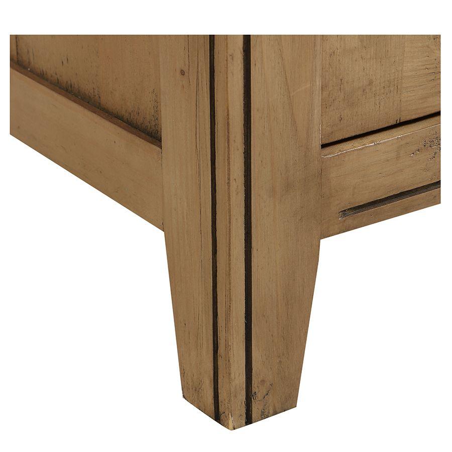 Bas de buffet en bois massif - Initiale