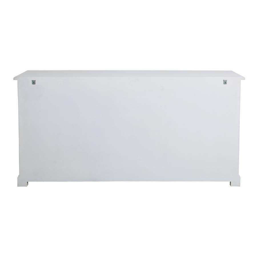 Bas de buffet 2 portes 4 tiroirs blanc - Rhode Island
