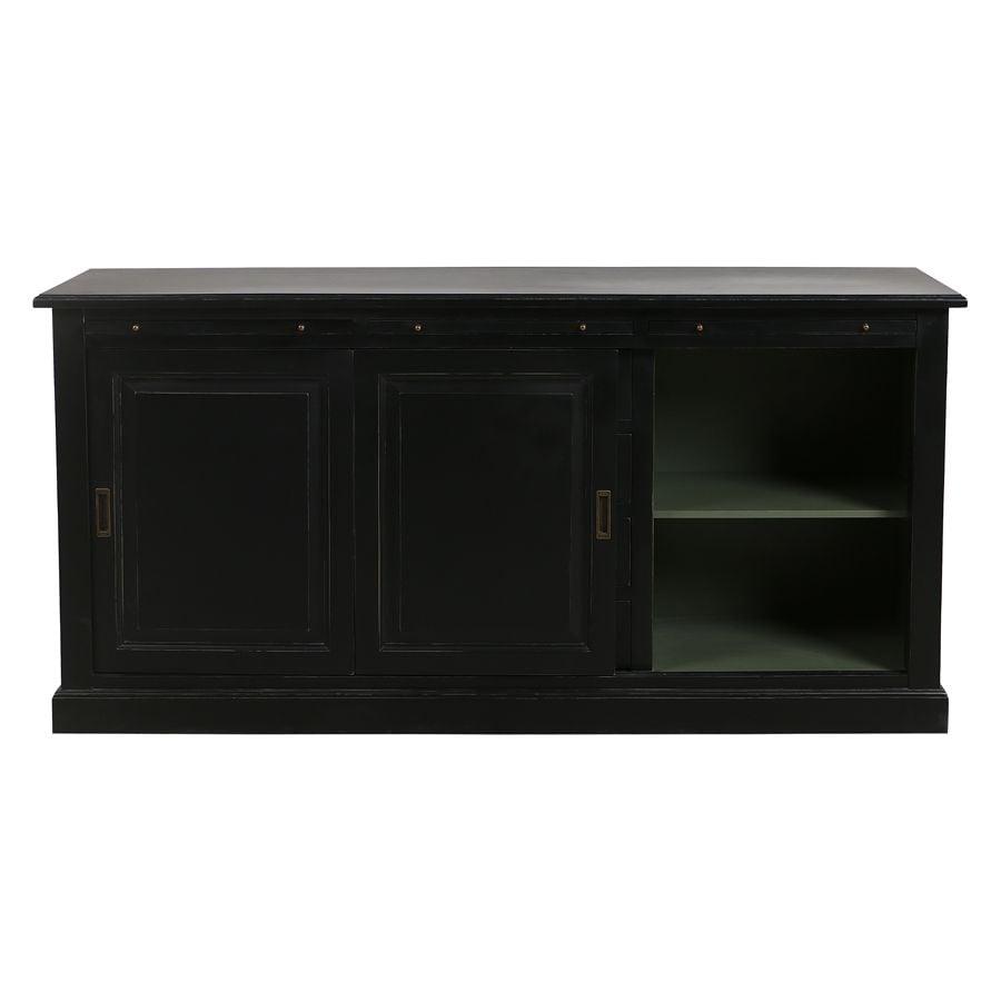 Bas de buffet 2 portes 4 tiroirs noir - Rhode Island