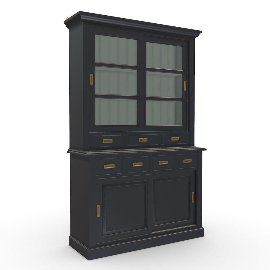 Buffet 2 portes vitrées noir - Rhode Island