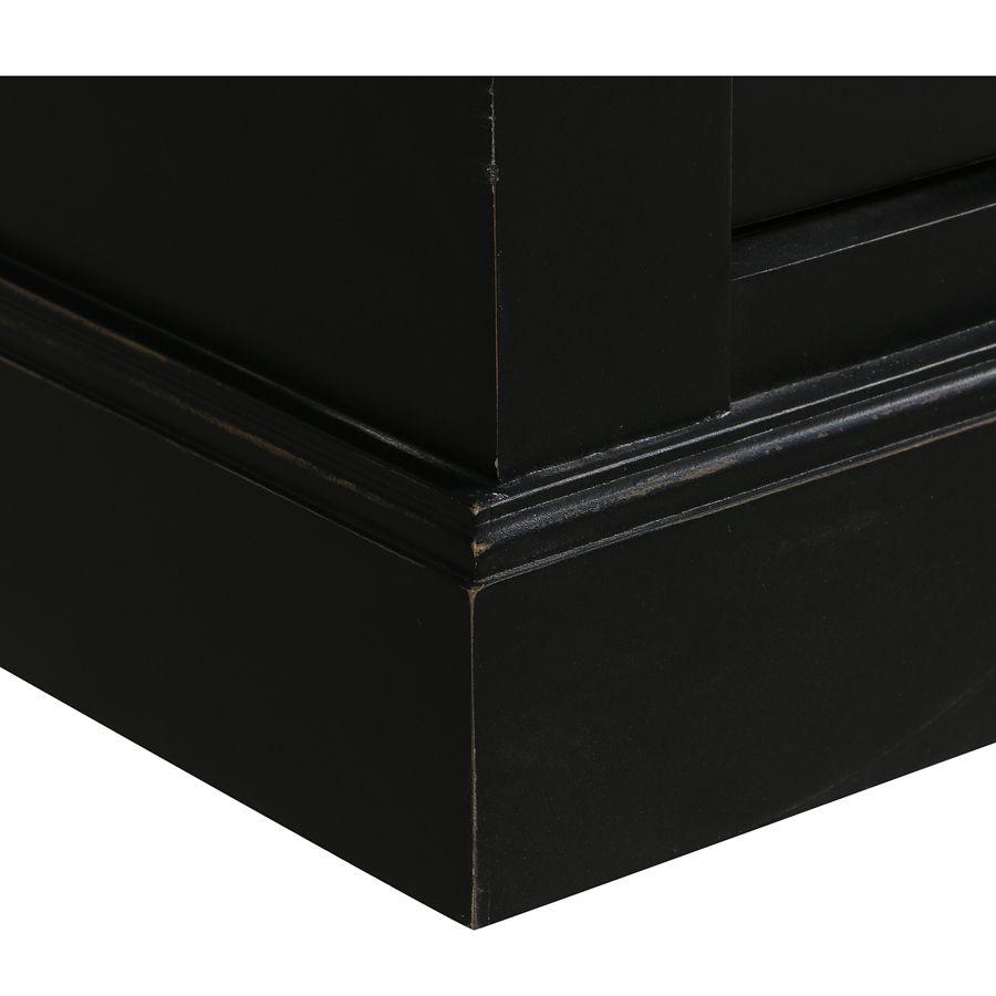 Buffet 3 portes vitrées noir - Rhode Island