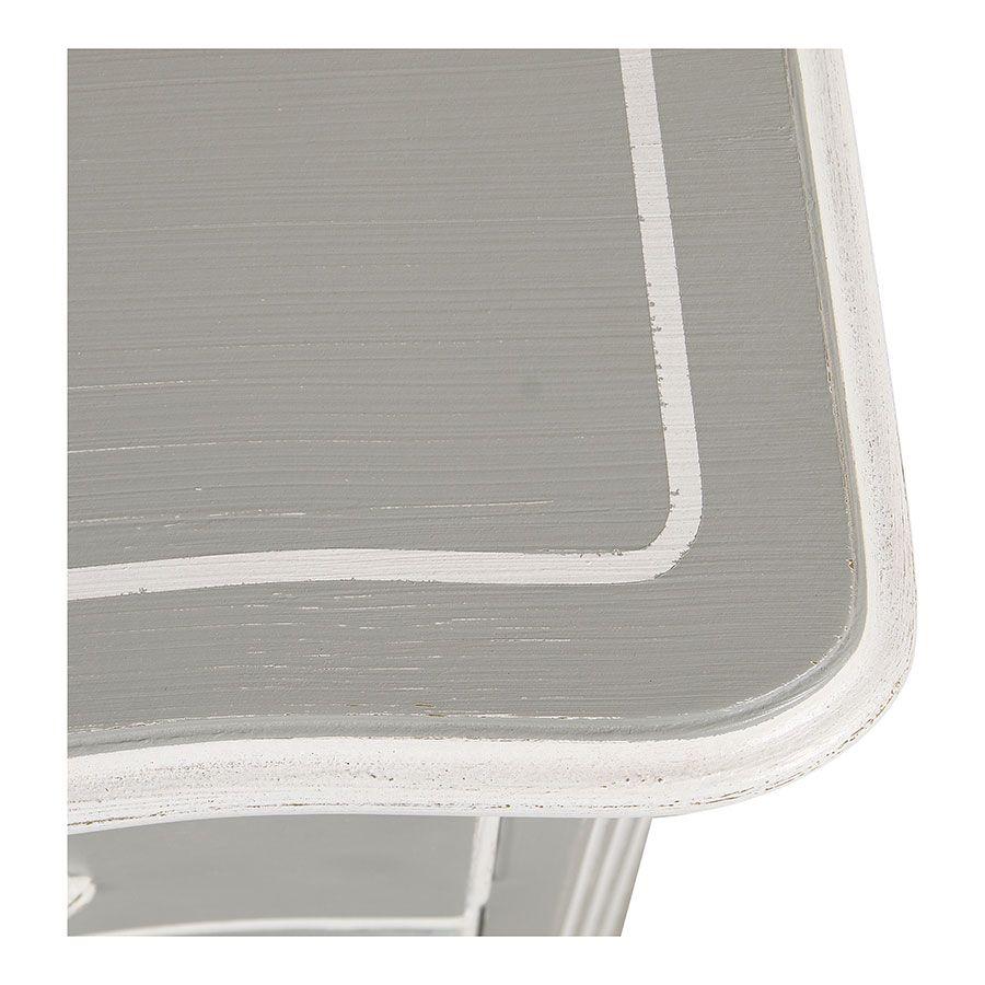 Commode galbée grise 5 tiroirs - Gustavien