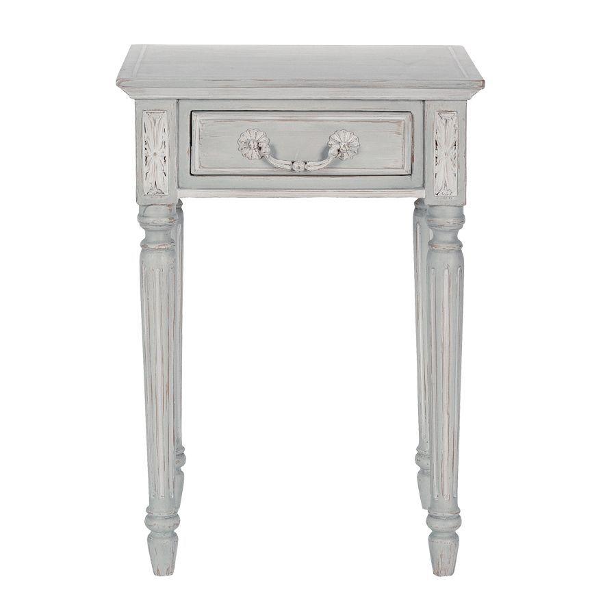 Table de chevet 1 tiroir en bois - Gustavien