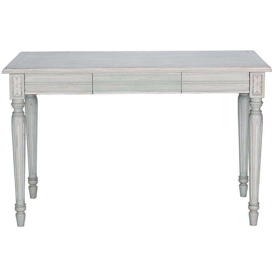 Bureau gris 1 tiroir en bois - Gustavien