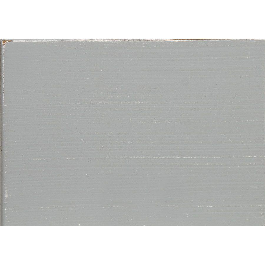 Lit 160x200 en bois gris rechampis blanc - Gustavien