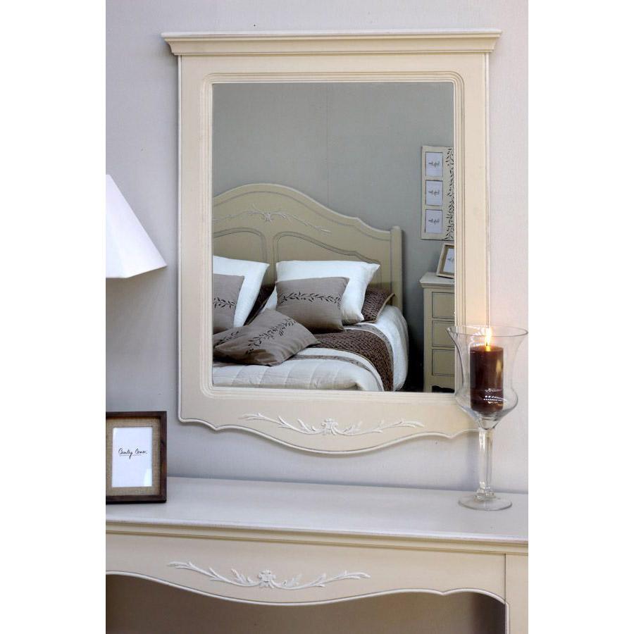Miroir trumeau en bois beige - Lubéron