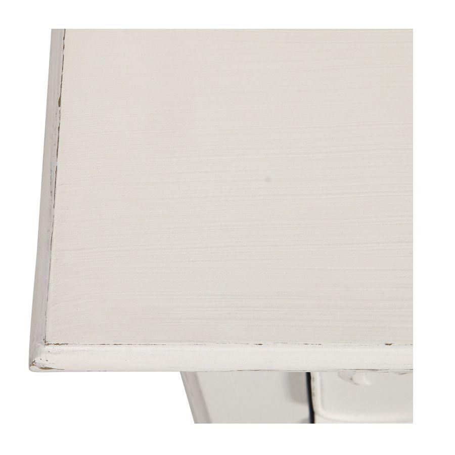 Commode blanche 3 tiroirs en bois L125 cm - Lubéron