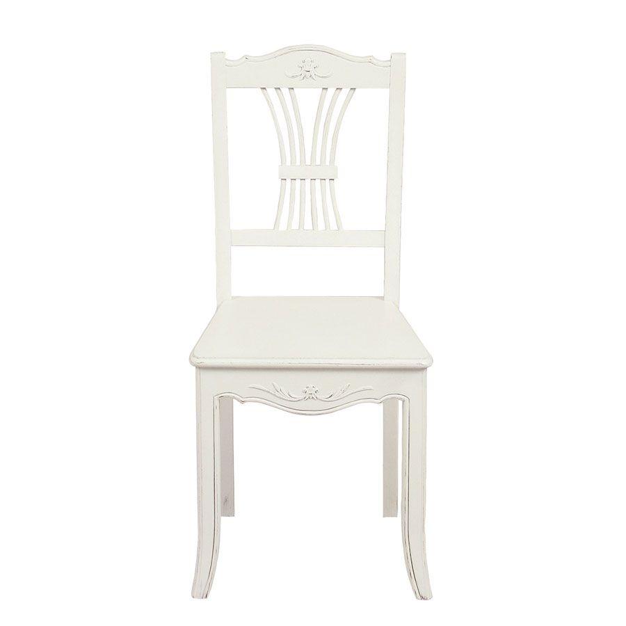 Chaise en bois blanc - Lubéron