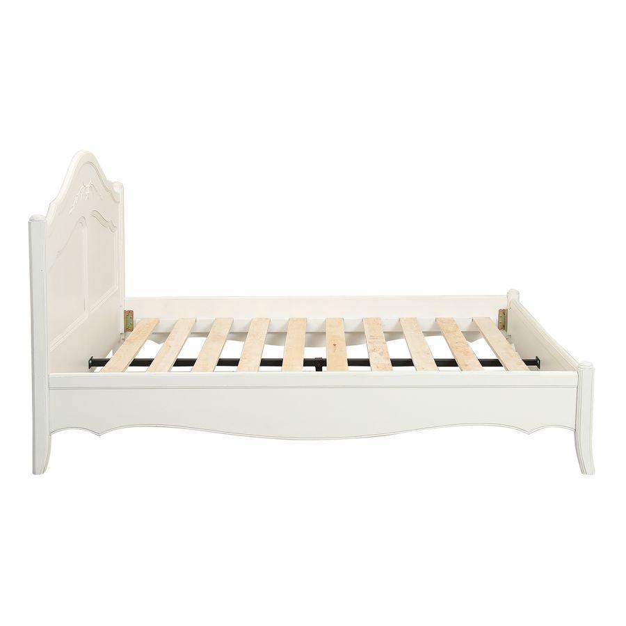 Lit 160x200 en bois blanc vieilli - Lubéron