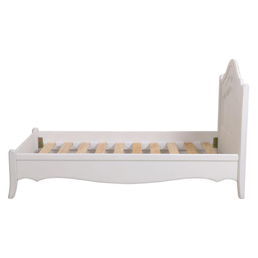 Lit enfant 90x190 en bois blanc vieilli - Lubéron