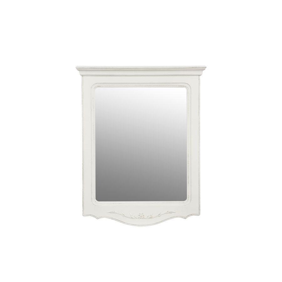 Miroir trumeau en bois blanc vieilli - Lubéron