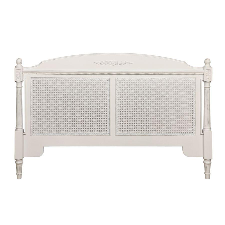 Tête de lit 160 blanche en bois - Gustavien
