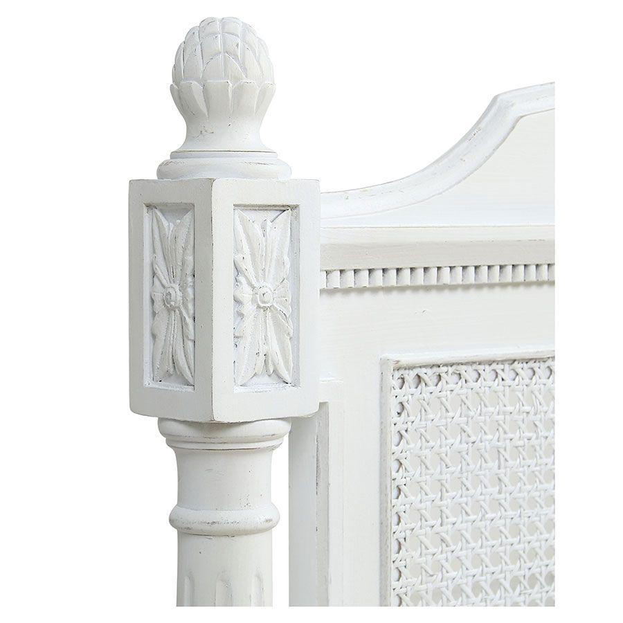 Lit 180x200 en bois blanc vieilli - Gustavien
