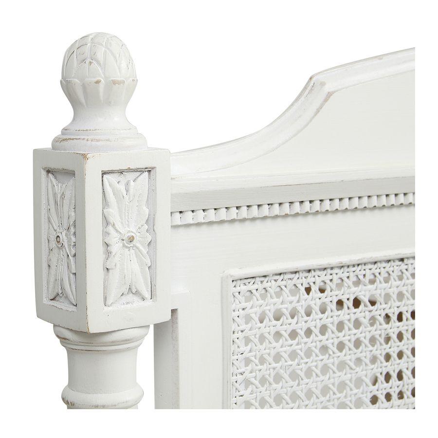 Tête de lit 180 blanche en bois - Gustavien