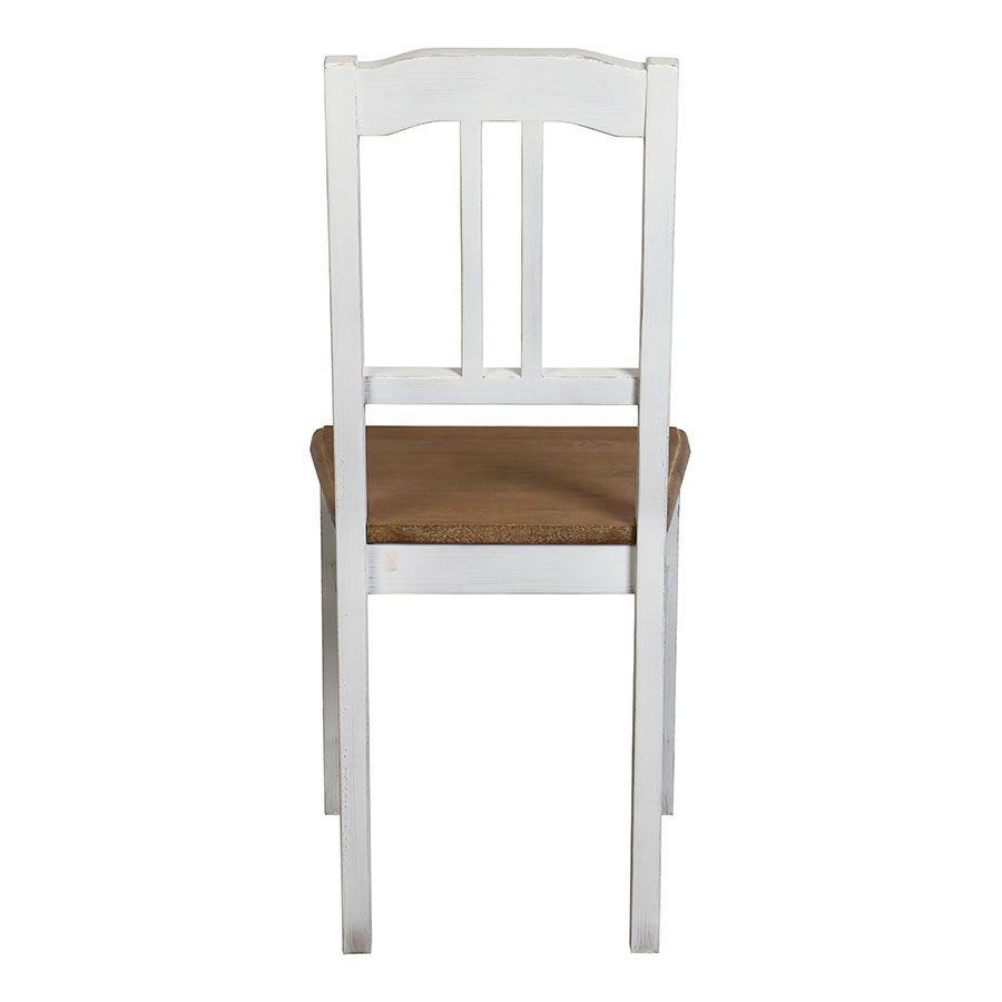 Chaise en pin massif blanc - Esquisse