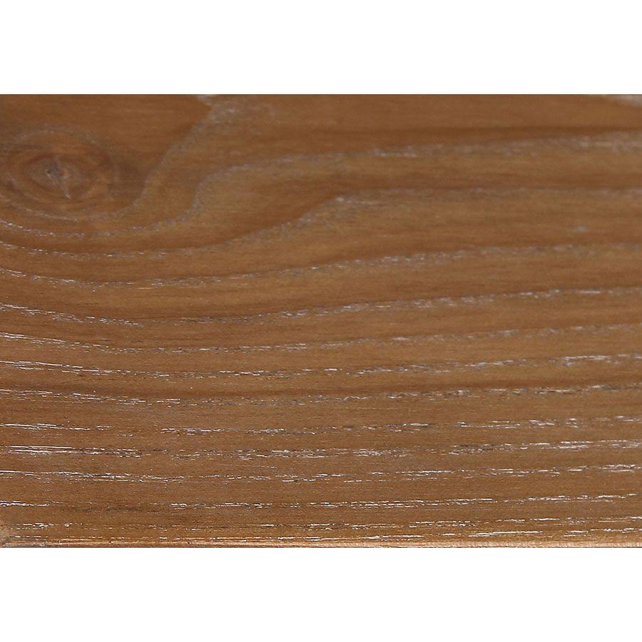 Lit 140x190 en pin massif blanc vieilli - Esquisse