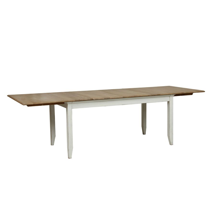 Table extensible blanche en pin 10 personnes - Esquisse