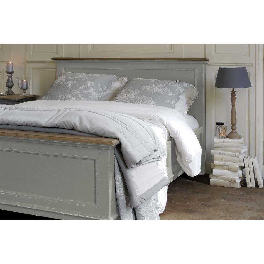 Tête de lit 160 en pin gris clair vieilli - Esquisse