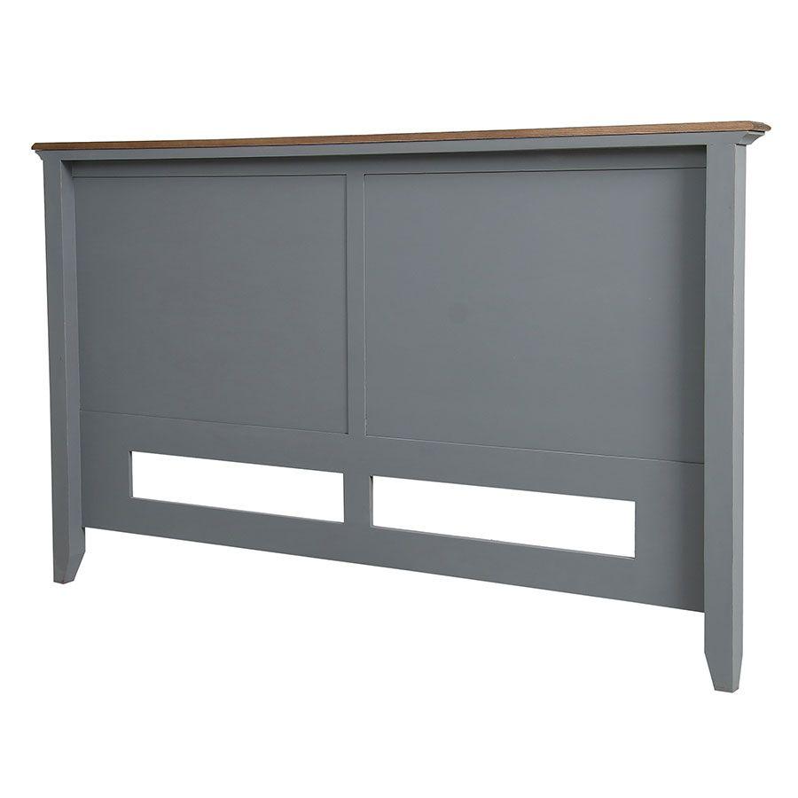 Tête de lit 180 en pin gris clair vieilli - Esquisse
