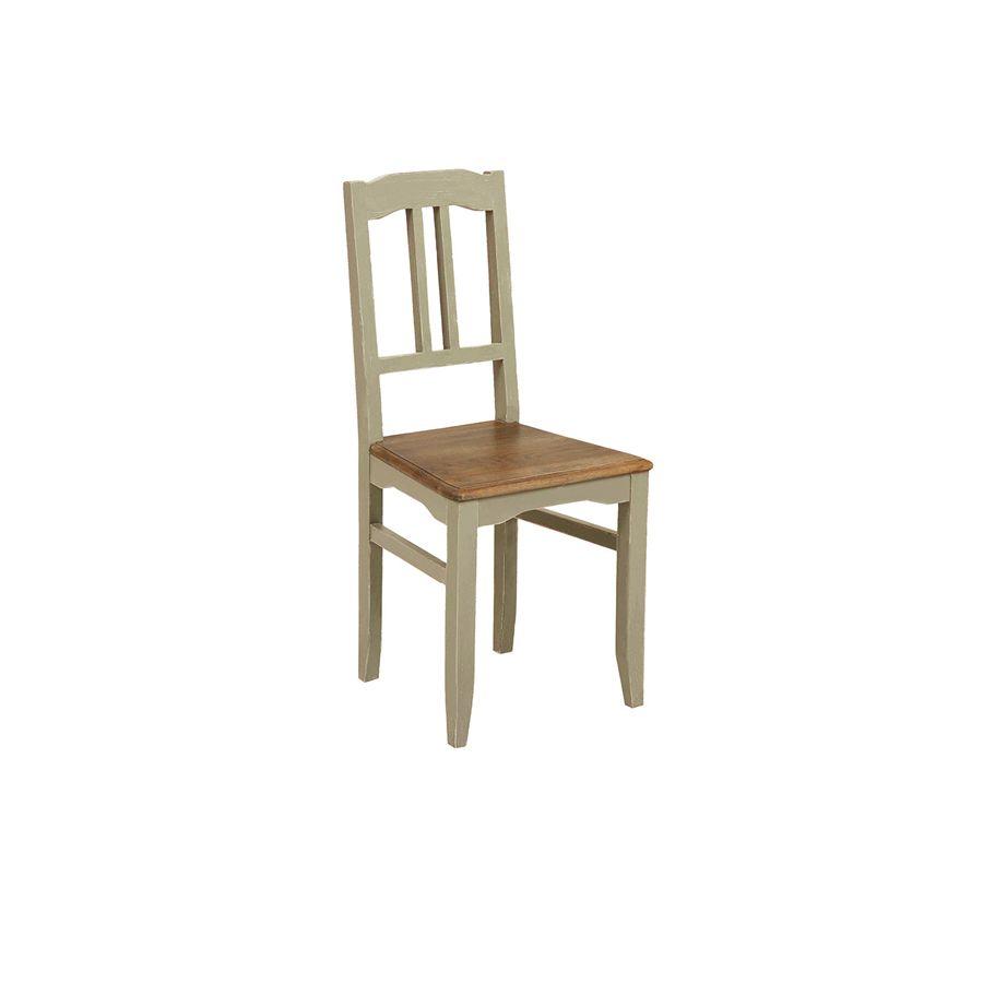 Chaise classique en pin massif gris - Esquisse