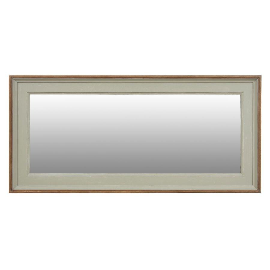 Grand miroir rectangulaire en pin gris plume - Esquisse