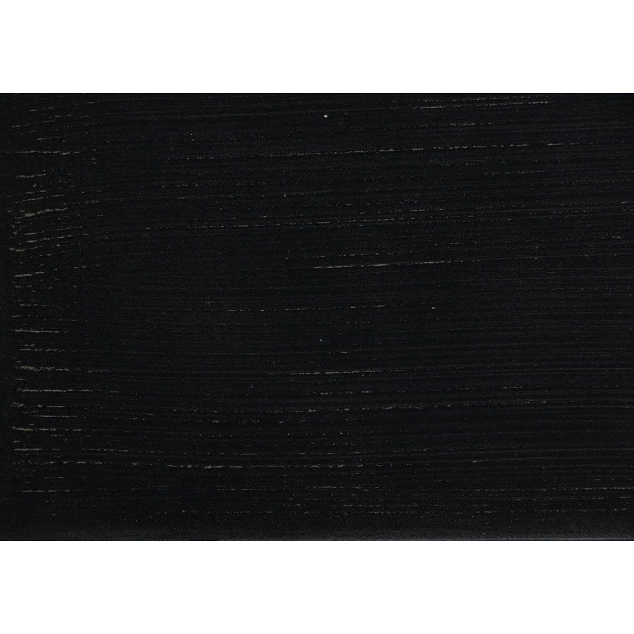 Meuble TV noir 2 tiroirs en pin massif - Esquisse