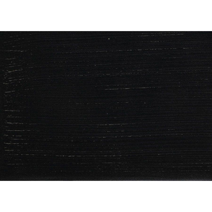 Lit 140x190 en pin massif noir vieilli - Esquisse