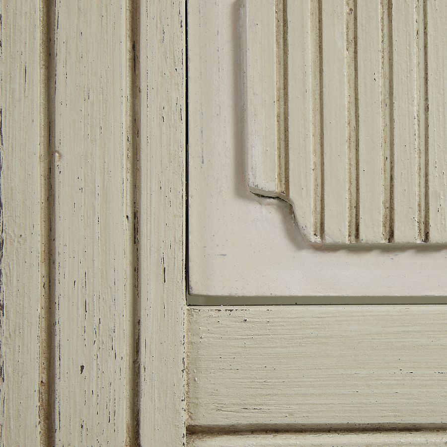 Commode 3 tiroirs en pin blanc craie - Montaigne