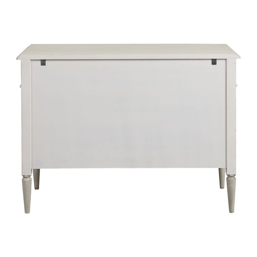 Commode 3 tiroirs en pin blanc craie – Montaigne