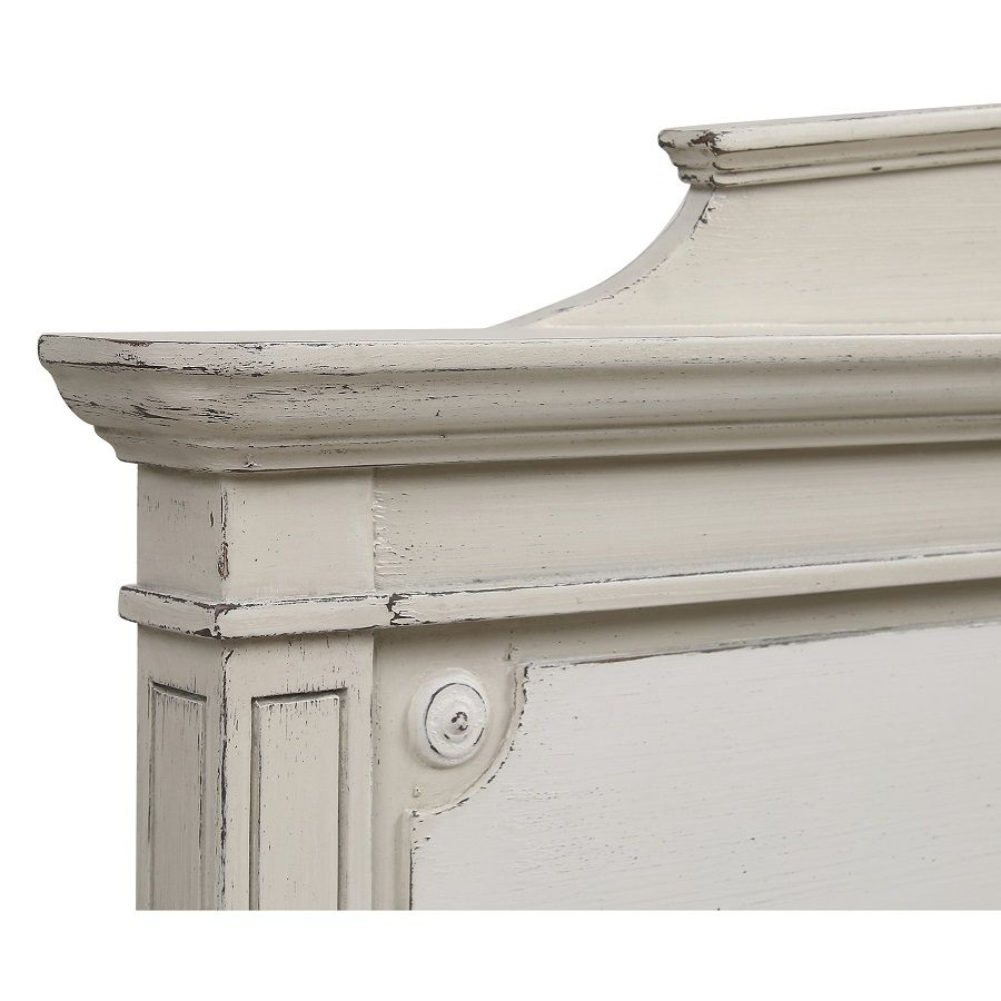 Tête de lit 140/160 cm en pin blanc craie - Montaigne