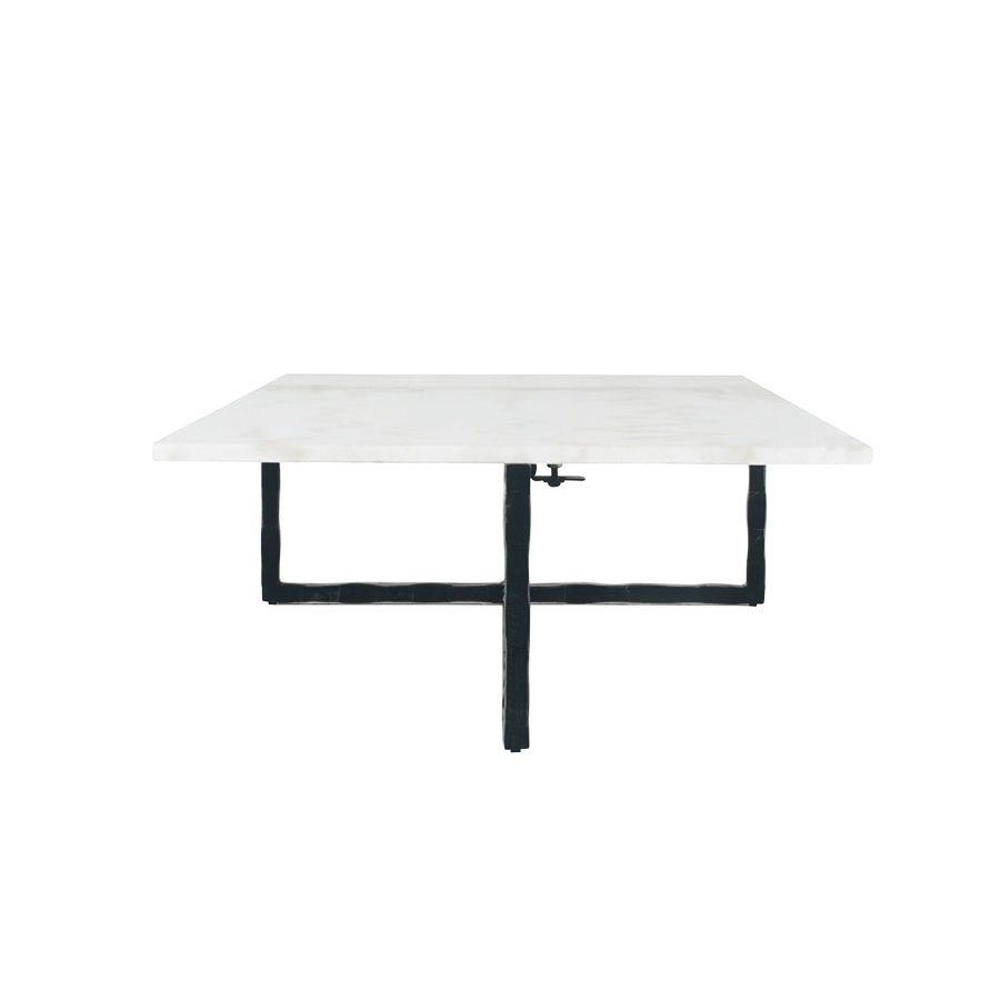 Table basse rectangulaire en marbre blanc - Minéral