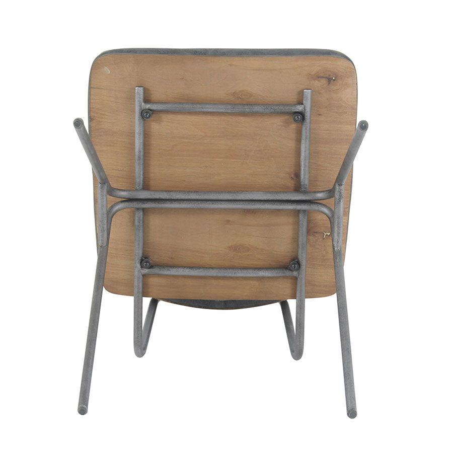 Chaise en métal et cuir - Minéral