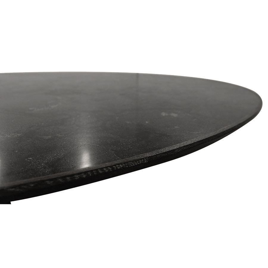 Table ovale plateau en pierre bleue - Minéral