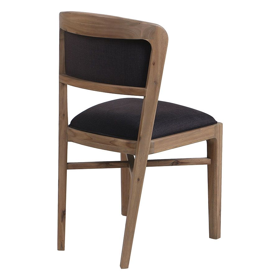 Chaise contemporaine en tissu gris anthracite - Organic