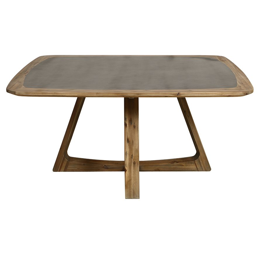 Table repas contemporaine en acacia massif - Organic