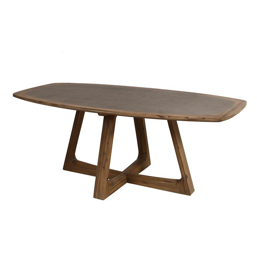 Table ovale contemporaine en acacia massif - Organic