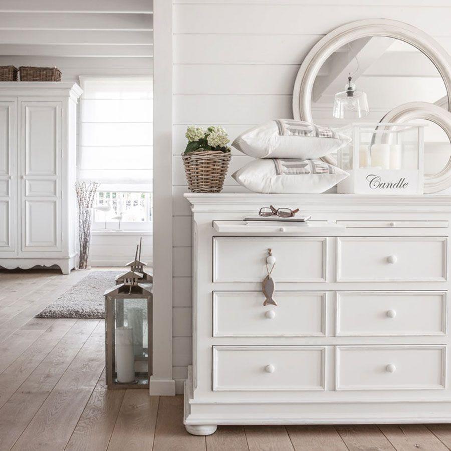 Armoire blanche 2 portes en bois - Harmonie