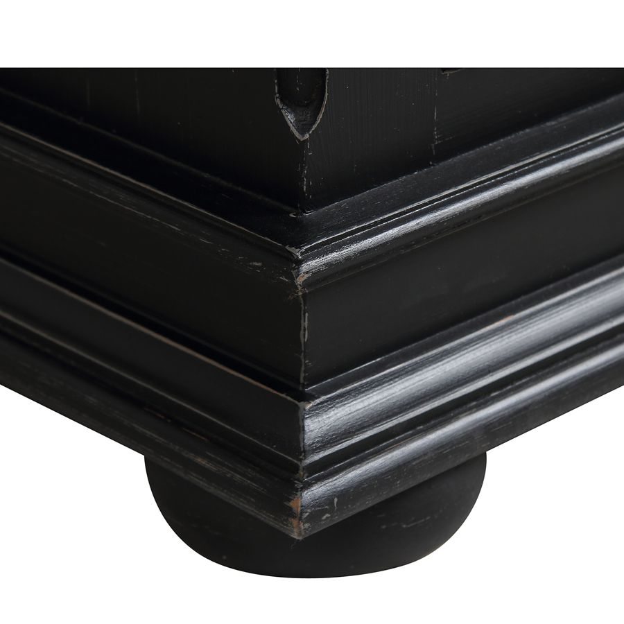 Semainier noir 7 tiroirs - Harmonie