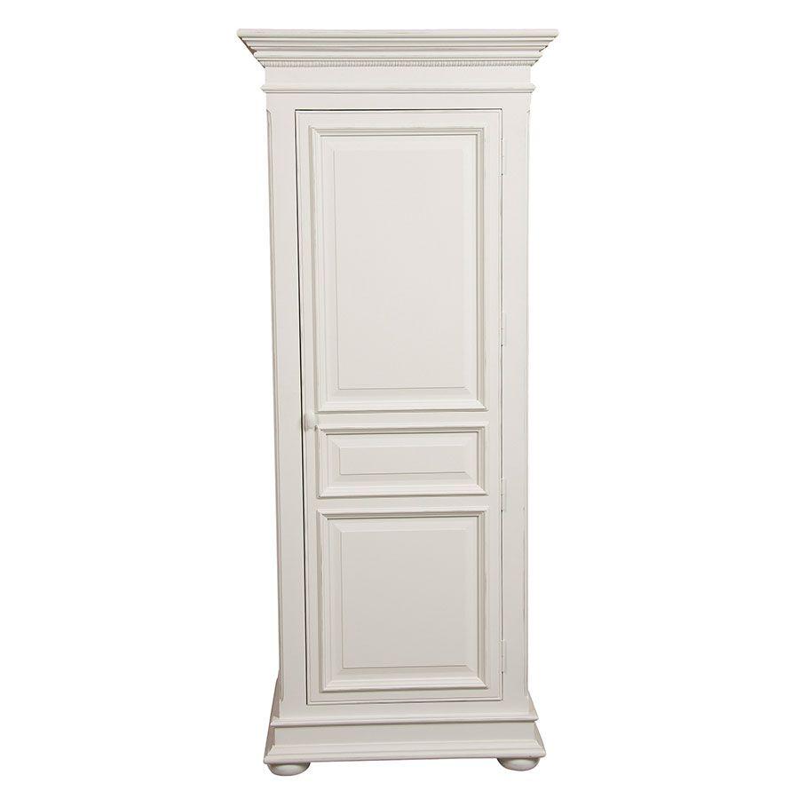 Armoire penderie bonnetière blanche 1 porte - Harmonie