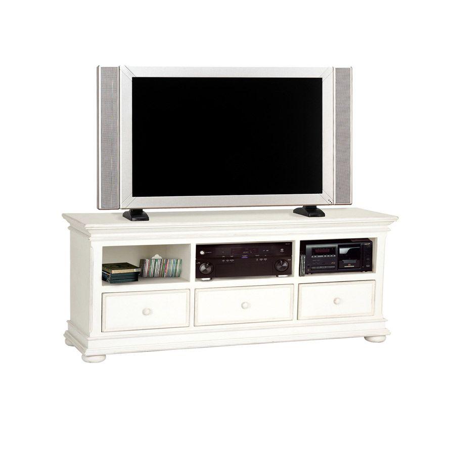 Meuble TV blanc avec rangements - Harmonie